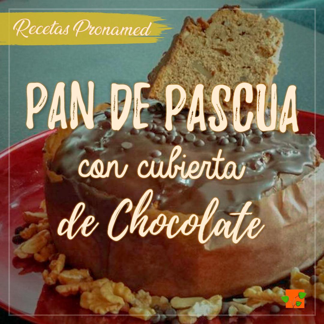 Pan de pascua con cubierta de chocolate saludable