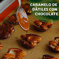 Caramelo de dátiles con chocolate