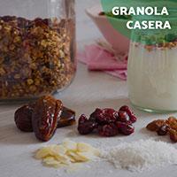 Receta: </br>Granola casera con dátiles