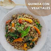 Receta con quinoa: Vegetales
