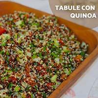 Receta con quinoa: Tabule